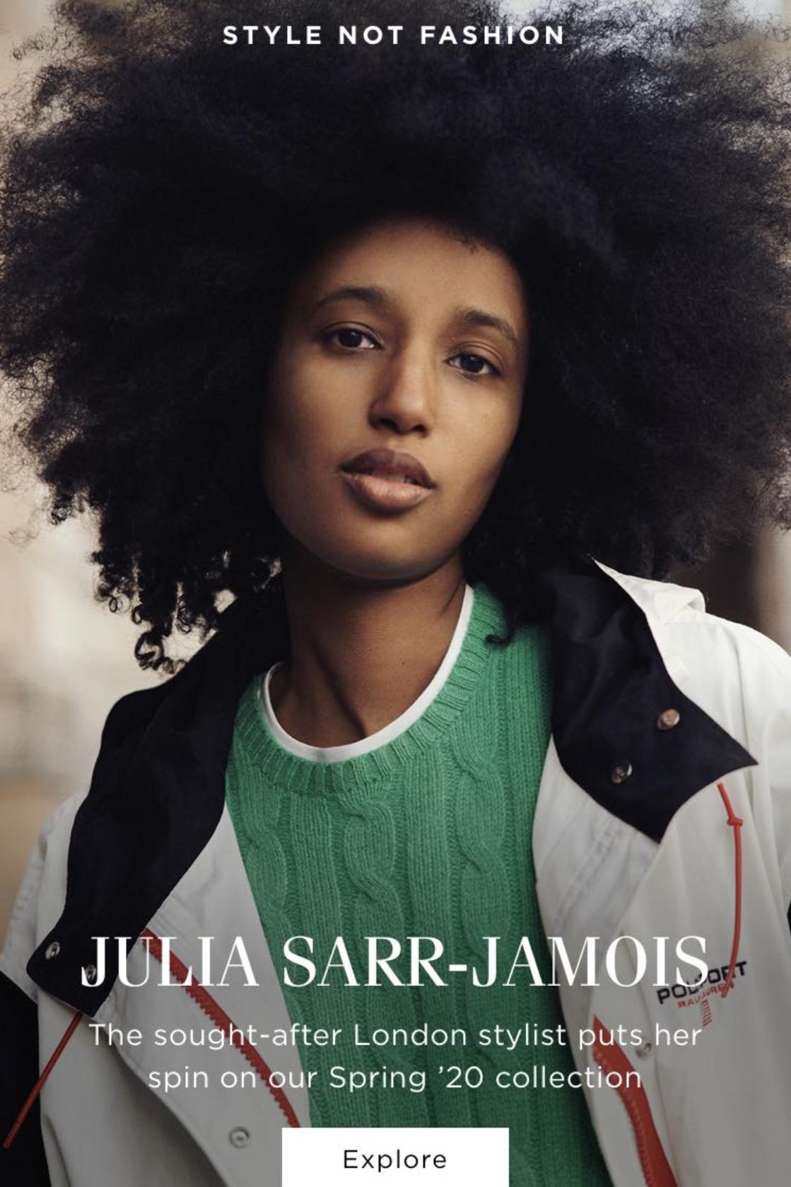 Julia Sarr-Jamois for Polo Ralph Lauren